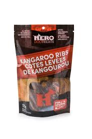HERO DEHYDRATED KANGAROO RIBS 125-135G