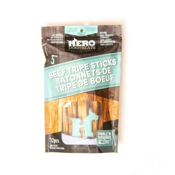 HERO DEHYDRATED TRIPE STICKS 5""