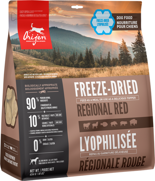 ORIJEN FREEZE DRIED REG RED 454G