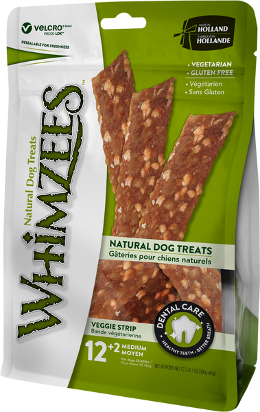 WHIMZEES VEGGIE STRIP MED PCH 14PK