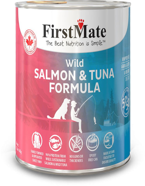 FIRST MATE 50/50 SALM/TUNA DOG CAN 12.2O