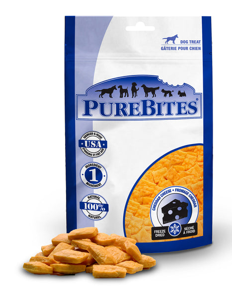 PUREBITES CHEDDAR CHEESE TREATS 57G