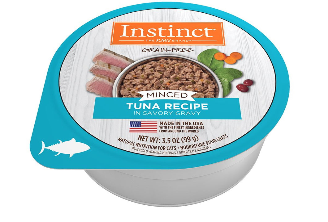 NV INSTINCT TUNA MINCED CAT CUP 99G