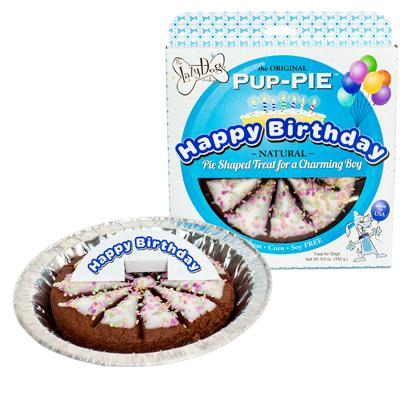 LAZY DOG PUP PIE BIRTHDAY BOY 6""