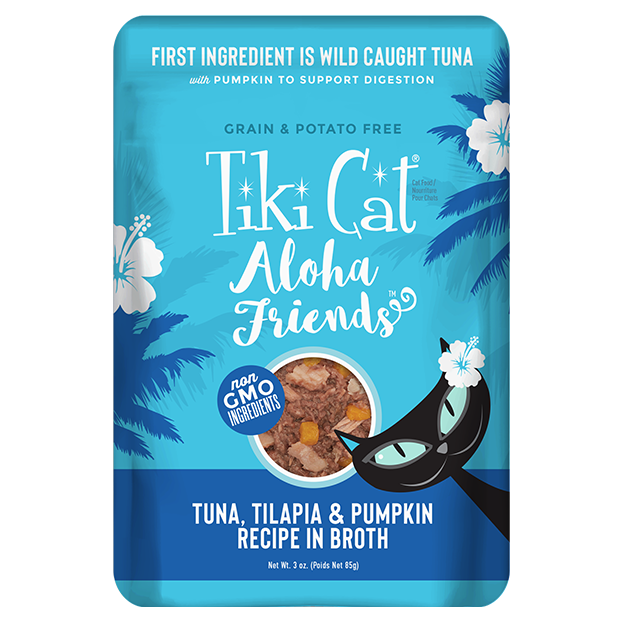TIKI CAT ALOHA TUNA/TILAPIA/PUMP PCH 3OZ