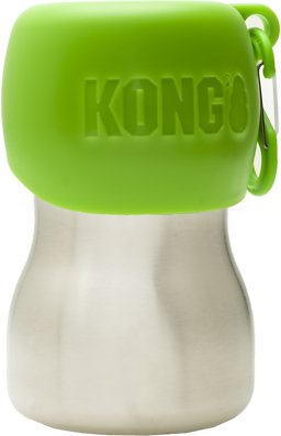 KONG INSULATED H2O BTL/BOWL GRN 25OZ