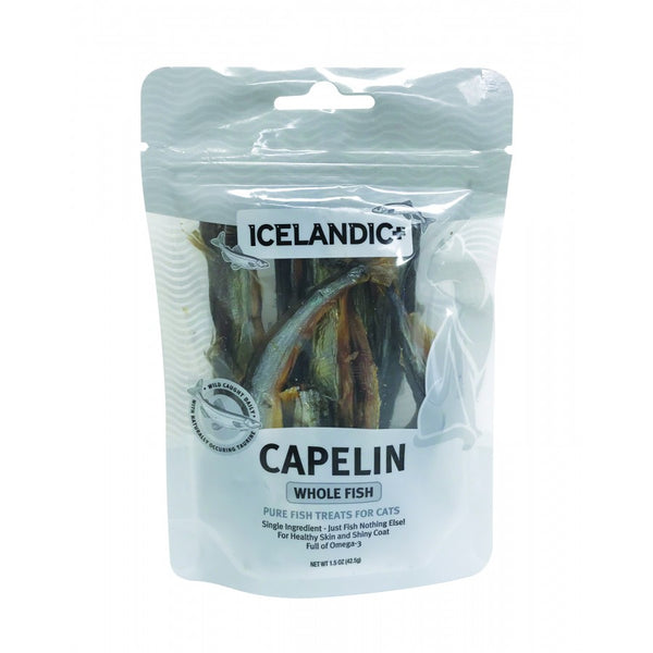 ICELANDIC CAPELIN WHOLE FISH CAT 1.5OZ