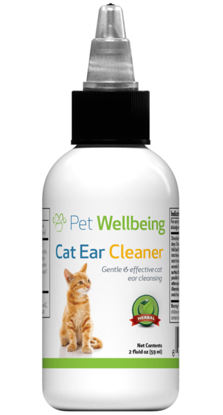 PET WELLBEING EAR CLEANER CAT 2OZ