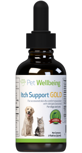 PET WELLBEING ITCH SUPPORT GOLD 2OZ