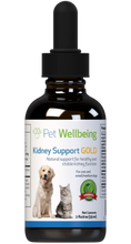 Load image into Gallery viewer, PET WELLBEING KIDNEY SUPPORT GOLD 4OZ