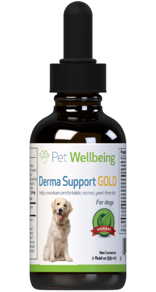 PET WELLBEING DERMA SUPPORT GOLD 2OZ