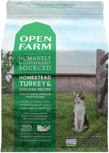 OPEN FARM CHIC/TURK CAT DRY 4LB