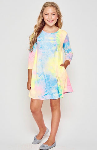 Tween Tie Dye Swing Dress