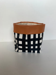 Canvas Bag - Tan & Checkers