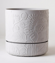Load image into Gallery viewer, Folia Relief Plant Pot Grey