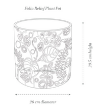 Load image into Gallery viewer, Folia Relief Plant Pot White