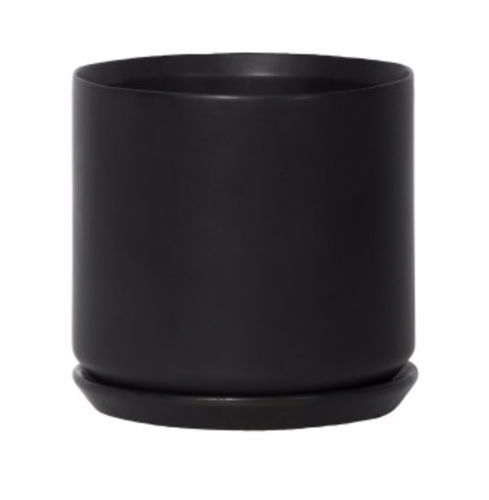 Large Oslo Planter Jet Black