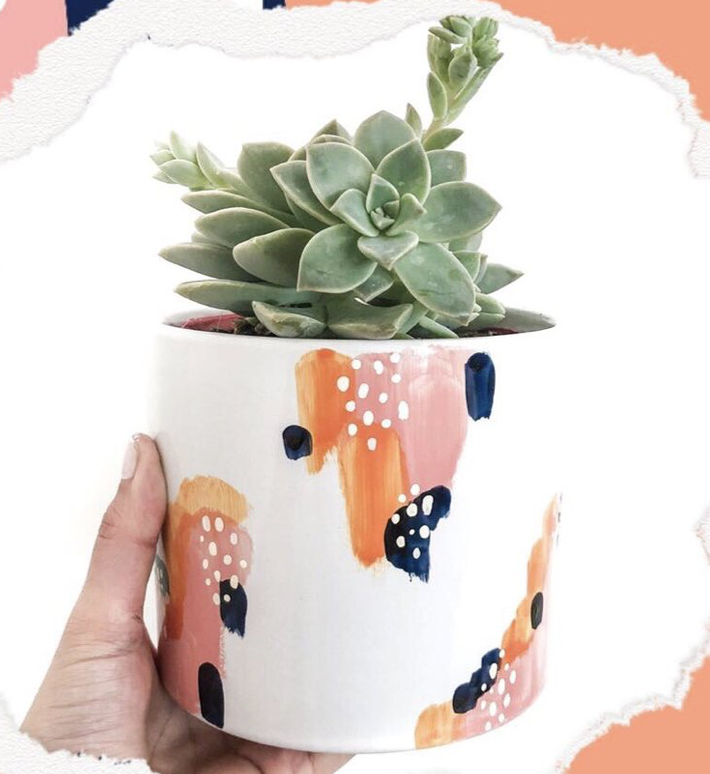Peaches & Cream Planter