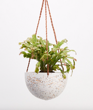 Load image into Gallery viewer, Terrazzo Dome Hanging Pot White
