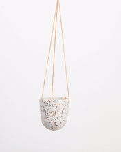 Load image into Gallery viewer, Terrazzo Hanging Pot White