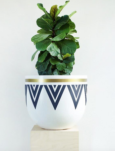 Deco Echo Pot (Blue) - Medium