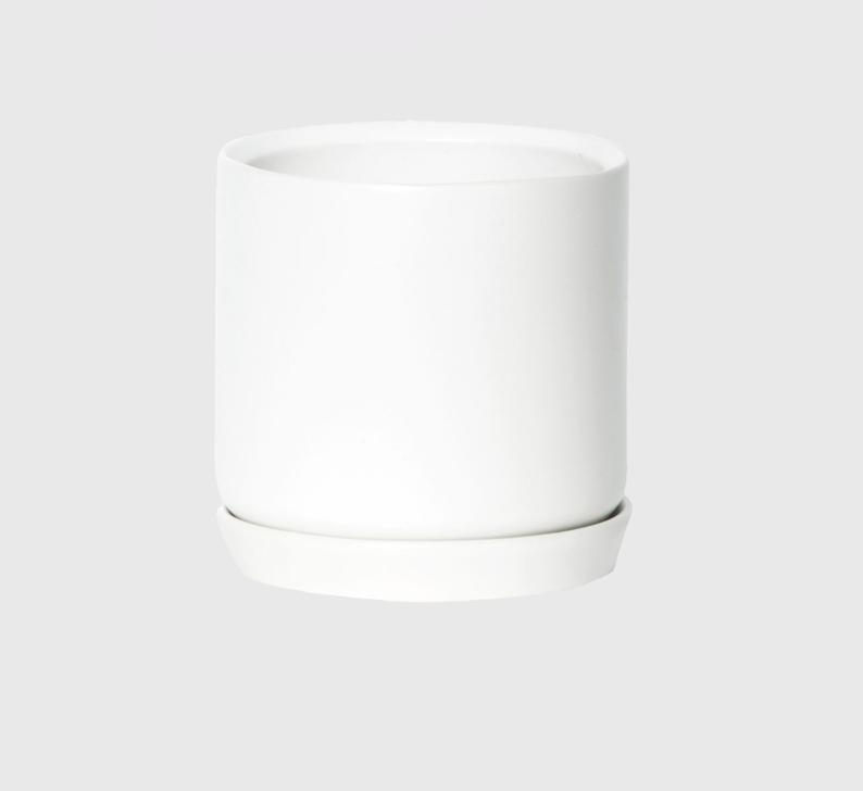 Small Oslo Planter White