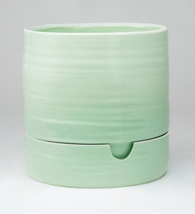 Self Watering Plant Pot Sage Green