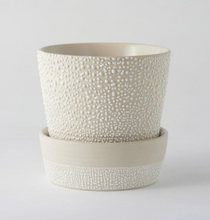 Load image into Gallery viewer, White-Water Bead Planter Pot