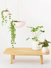Load image into Gallery viewer, Macrame Hanging Planter Large Bright Pink