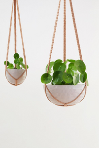 Macrame Hanging Planter Grey