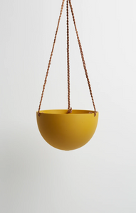 Block Colour Dome Hanging Pot Golden