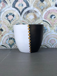 Sorrento (Black/Gold) - Small Terracotta