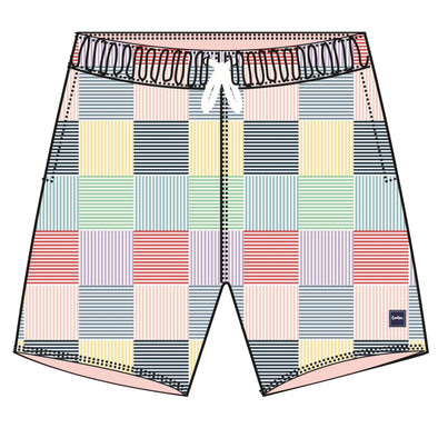 Cookies South Hampton Poly Spandex Printed Patchwork Boardshort