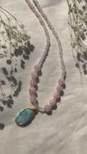 Load and play video in Gallery viewer, Mermaids of Mu ~ Larimar + Moonstone + Morganite ~ Necklace