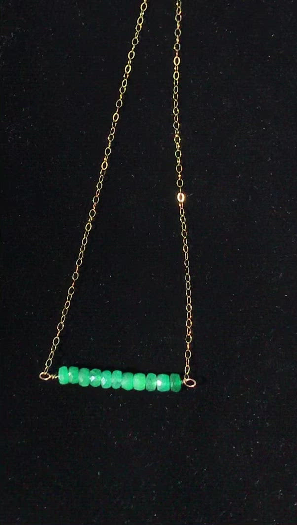 Guided by the Heart ~ Zambian Emerald Necklace
