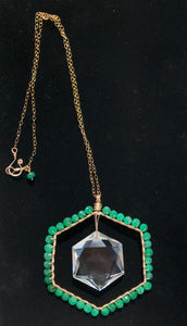 Emerald Heart Portal Necklace