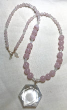 Load image into Gallery viewer, Divine Love Necklace ((Alchemy Collection)) ~ morganite & rainbow moonstone