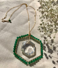 Load image into Gallery viewer, Emerald Heart Portal Necklace