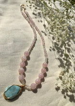 Load image into Gallery viewer, Mermaids of Mu ~ Larimar + Moonstone + Morganite ~ Necklace
