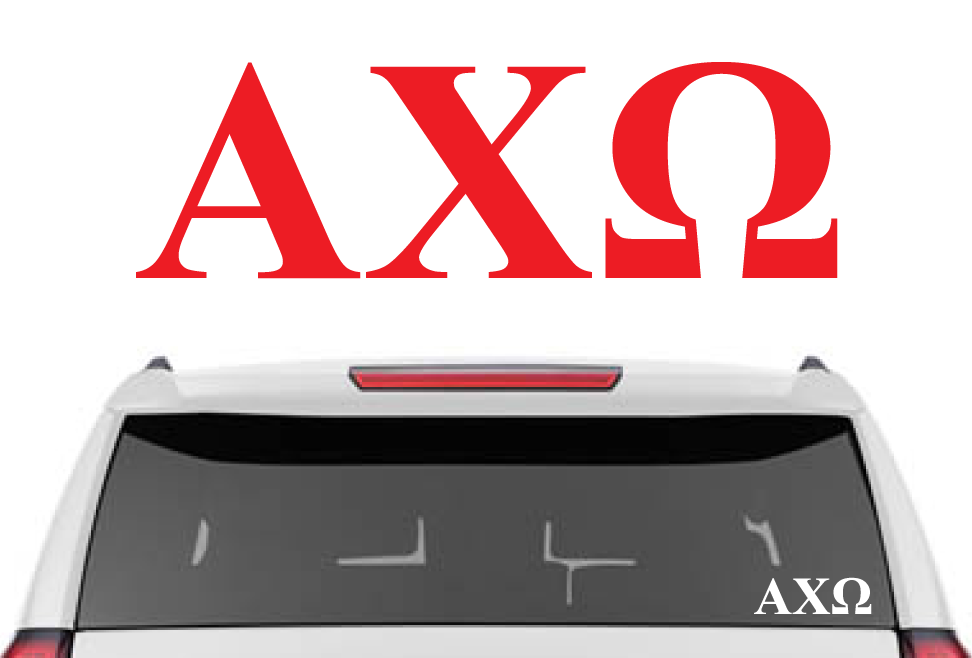 "1.5"" Alpha Chi Omega Decal"