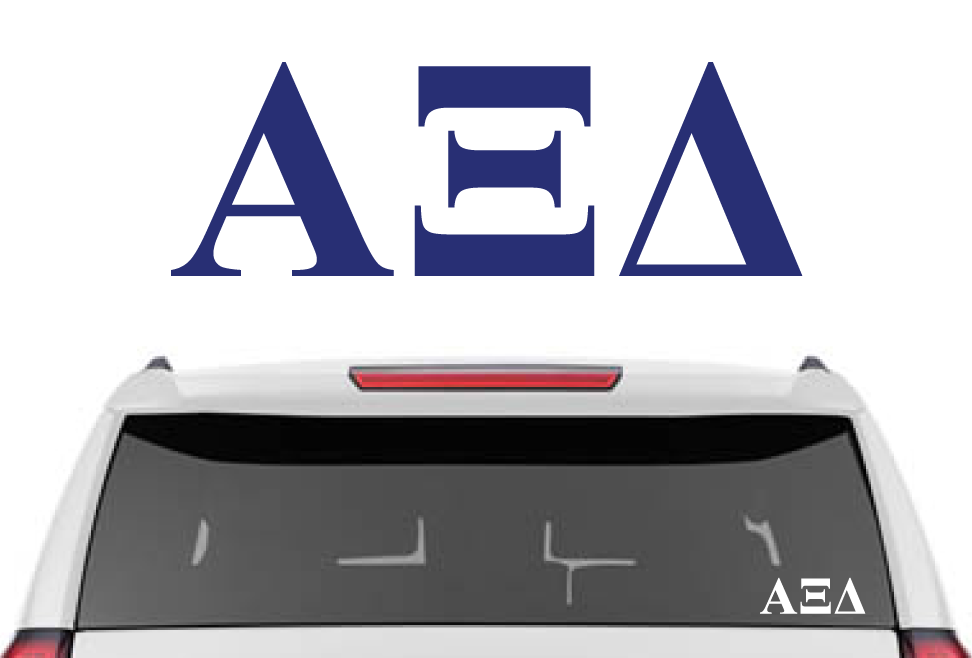 "2.5"" Alpha Xi Delta Decal"