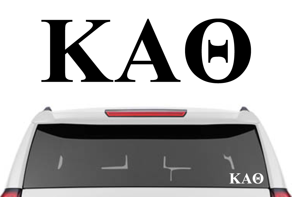 "1.5"" Kappa Alpha Theta Decal"