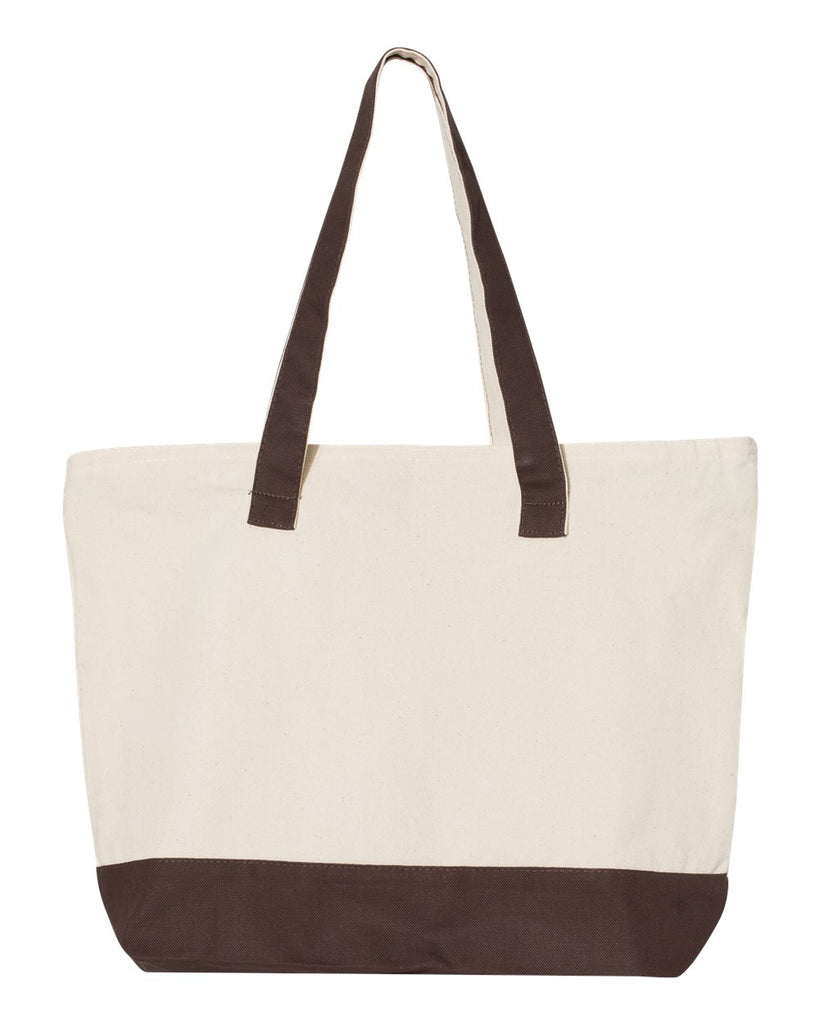 Canvas Zippered Tote