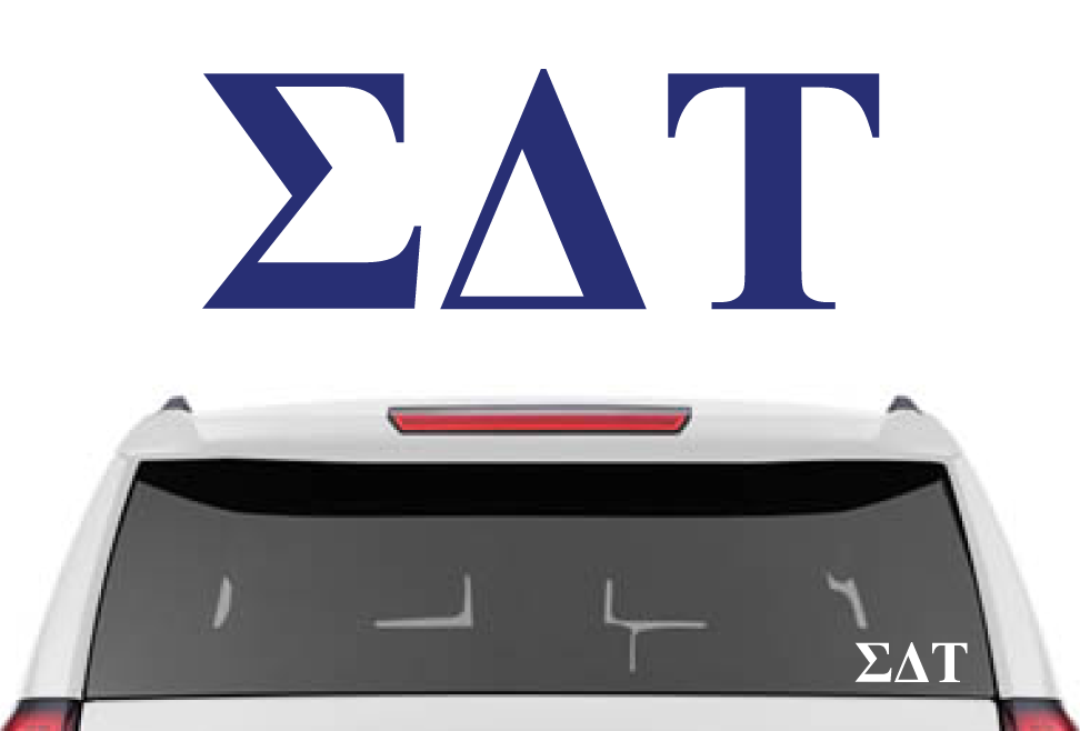 "2"" Sigma Delta Tau Decal"