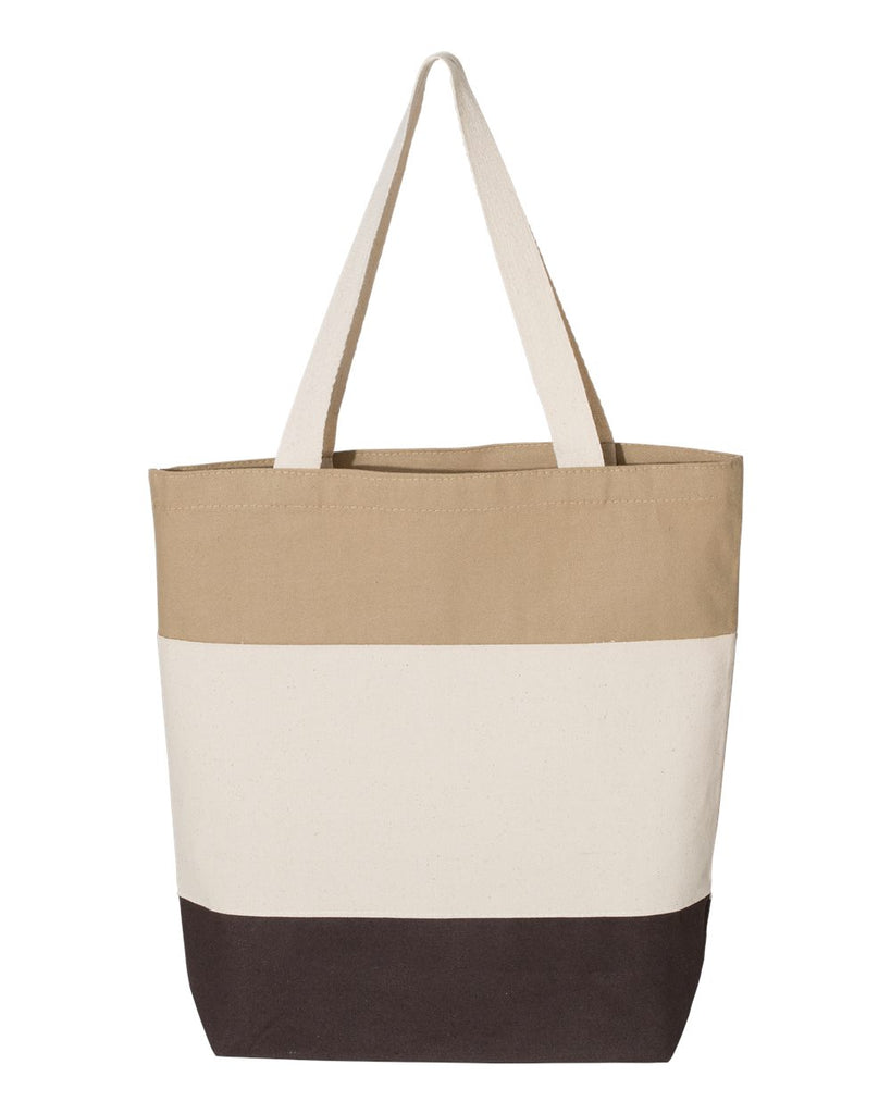 Tri-Color Canvas Tote