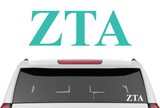 "1.5"" Zeta Tau Alpha Decal"