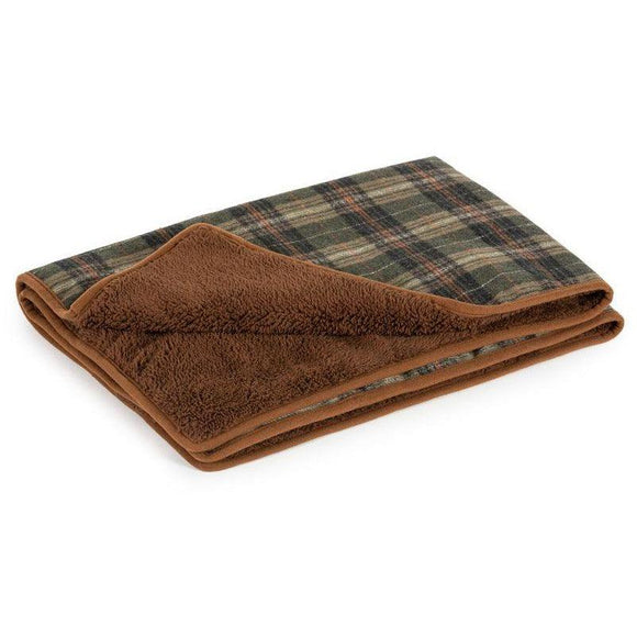 Ancol Heritage Green Check Blanket-Oh Doggy