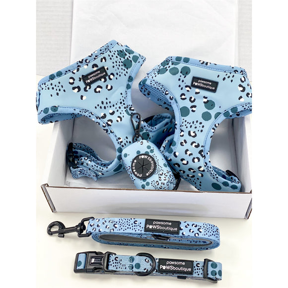 Pawsome Paws Boutique Artic Leopard Adjustable Harness-Harness-Oh Doggy