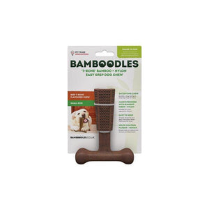 Bamboodles 'T-Bone' Easy Grip Dog Chew-Oh Doggy