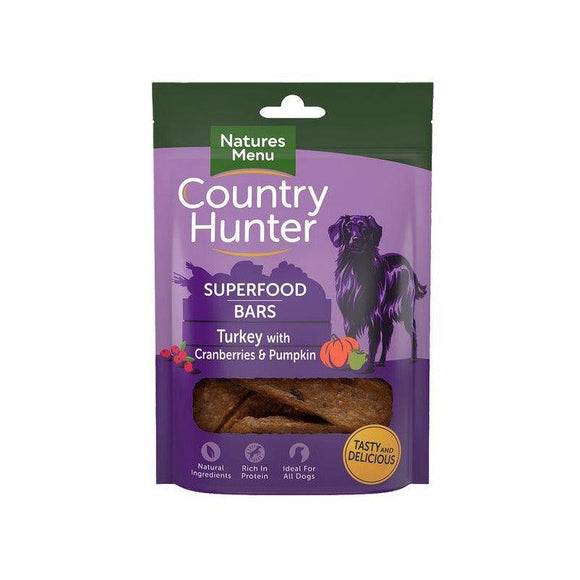 Country Hunter Superfood Bars Turkey-simple-Oh Doggy